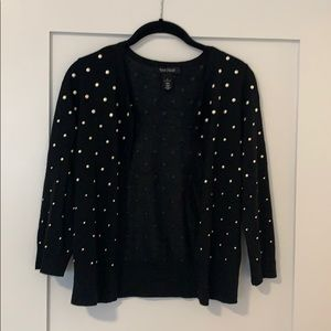 Adorable pearl polka dotted cardigan